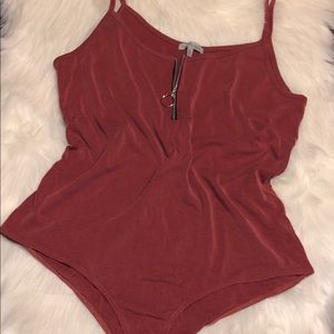Charlotte Russe Red Bodysuit